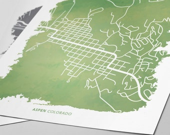 Aspen Colorado Map - Custom Print