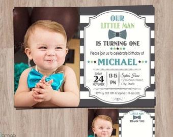 Little Man Birthday invitation, Birthday invitation boy, Little Man invitation, Bow tie Birthday Invitation, bow tie invitations, littleman