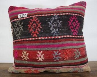 Turkisk Kilim Pillow 16x18 Handmade Kilim Pillow Throw Pillow Vintage Kilim Cushion Kilim Pillow Cover Decorative Kilim Pillow SP4040-182
