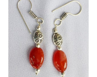 Natural Carnelian earings