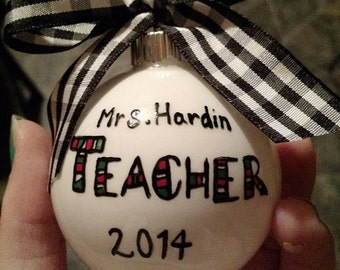 Teacher Christmas Ornament