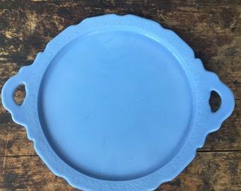 Periwinkle Milk Glass Platter