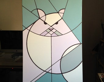 Nicolasa. Acrylic on canvas. Measurements: 65 x 100 x 1, 7 cm