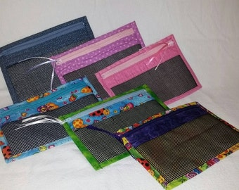 Large Mesh Zippered Pouch