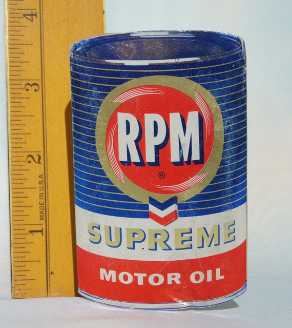 Chevron Rpm Advertising Giveaway For Supreme Motor Oil Eye