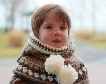 Crochet pattern, Patron de crochet – Ruby Rabbit Hooded Cowl Hood Hat Neck warmer (12/18 month - Toddler - Child – Teen- Adult sizes)