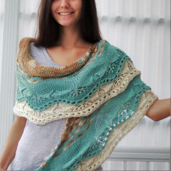 Knitting pattern, Patron tricot PDF – Ida Shawl, hand ...