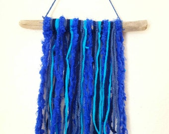 Blue Driftwood wall hanger