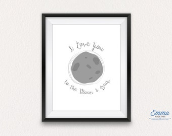 I love you to the moon and back - print only