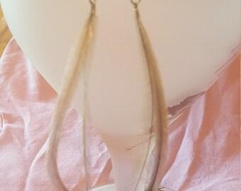 Pastel Emu Feather Earrings