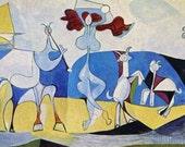 PABLO PICASSO 1955 Lithograph +COA after La joie de vivre, Picasso's Print Famous Work. Unique Exclusive Gift of Very Rare Art. Shipped Free