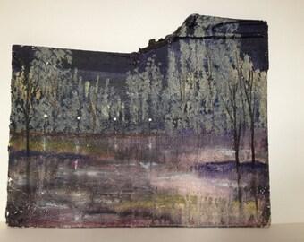 Original Landscape painting on wood
