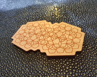 Abstract Geometry Wood Sticker