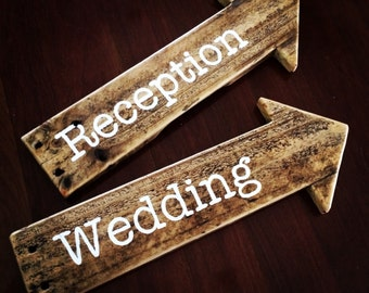 Pallet Wedding Direction Arrows - made to order - Shipping NOT Included