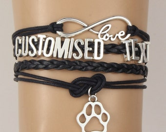 Handmade personalised bracelet in any colour