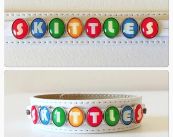 Brand New Skittles Candy Wrist Wrap Charm Bracelet
