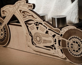 Wooden chopper (Stand-box for spice) gift