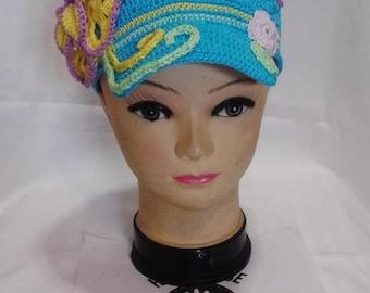 Coka summer flower hat crochet PDF pattern