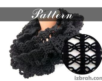 Crochet pattern Crochet scarf pattern Crochet infinity scarf Winter scarf Women's scarf DIY Long scarf Circle scarf Crocheted scarf pattern