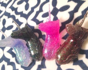 Glitter Fantasy Unicorn mounted Bust