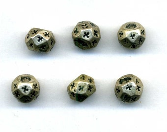 Morocco Old Silver engraved faceted Beads for necklaces