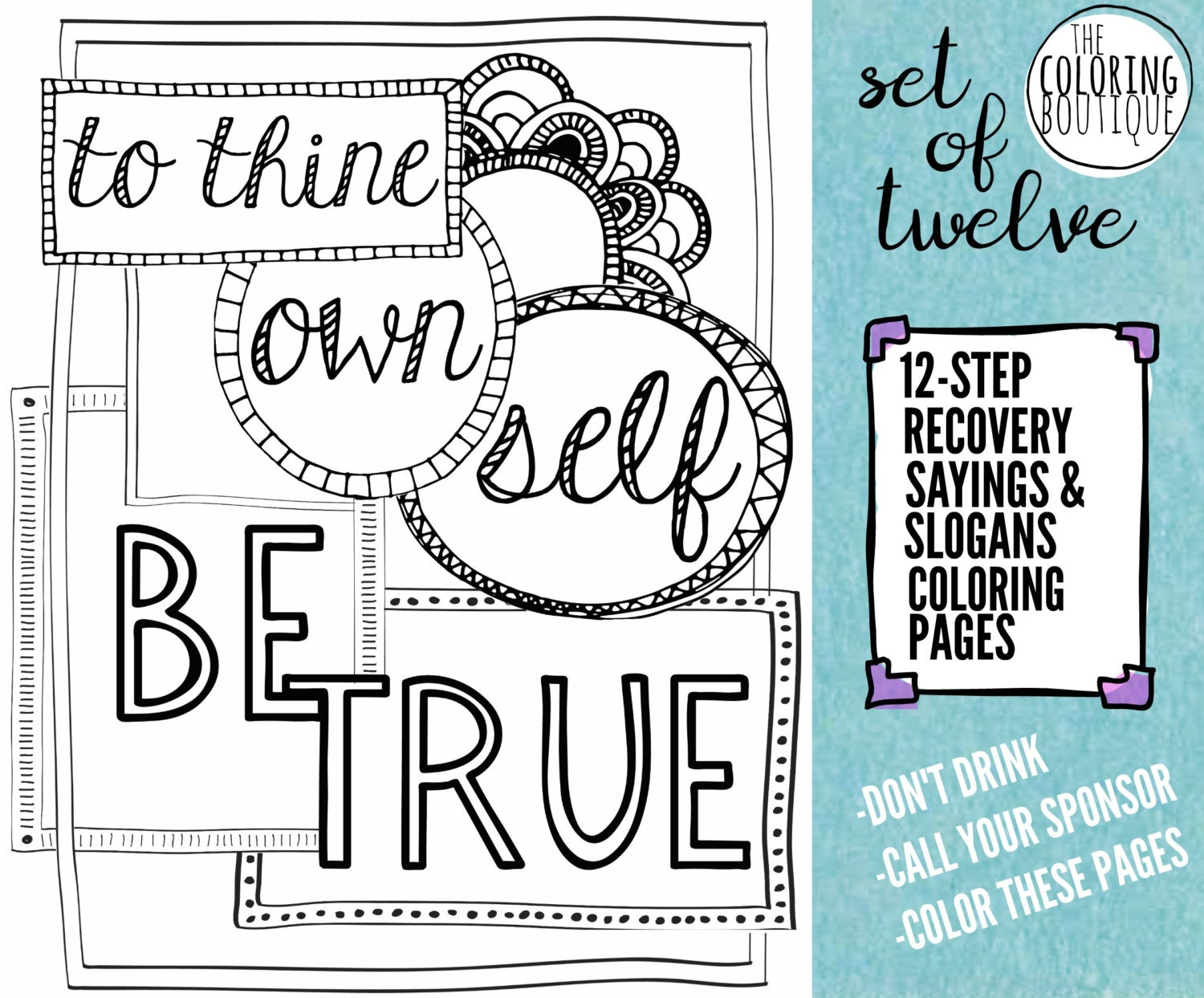 Recovery Coloring Pages 12 steps