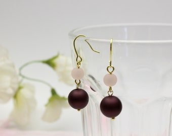 Gradient color dangle earrings