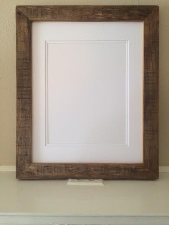 reclaimed wood picture frame for a 16 x 20 mat. Black Bedroom Furniture Sets. Home Design Ideas