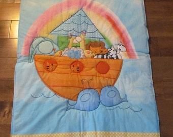 Noah's Ark Crib Blanket/Wall Hanging/Playmat.  Free Shipping Canada
