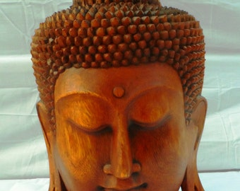 Buddha wood carving (bdhfc15)