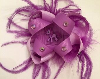 Purple My Little Pony Bow
