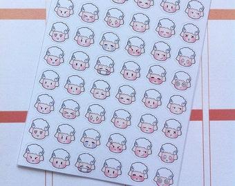 Sheepie Head Emoji Planner Stickers - SHEEPIE