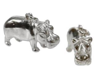 Hippo pendant Silver 925 Hippo nielpferd Hippo hippopotamus horse