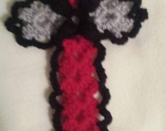 Crocheted crosses.