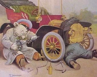 "Darling ""Roosevelt Bears""- ""Breakdown Bears"" Postcard by Dover Publications"