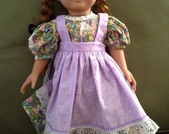 Bunny Dress With Lavender Pinafore