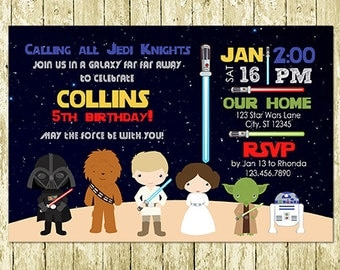 Star Wars Digital Invitation