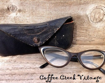 Vintage Cat-eye Glasses and Goggles Case