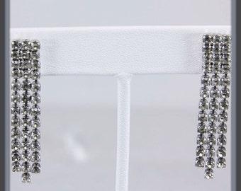 Vintage Rhinestone Earrings, Vintage Rhinestone Dangle Earrings, Vintage Earrings, Vintage Dangle Earrings, Vintage Rhinestone Jewelry
