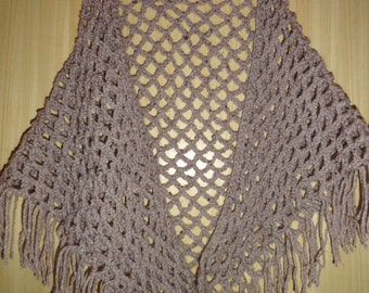 SALE! 20% Off!! Triangle shawl / Triangle Fringe Scarf