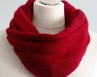 The Kate upcycled felted cashmere scarf infinity cowl