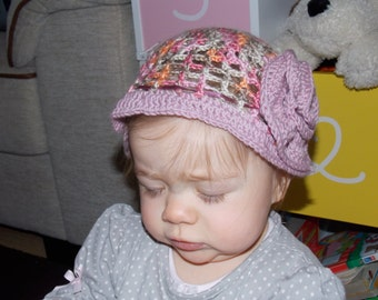 Handmade Hat, baby girl 6-10 months