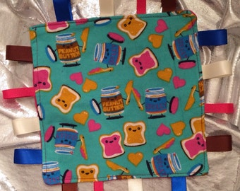 Peanut Butter Jelly tag blanket