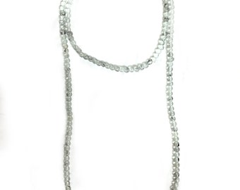 Double Wrap Necklace - Clear with Black Detailing