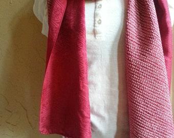 Japanese Shibori kimono silk scarf