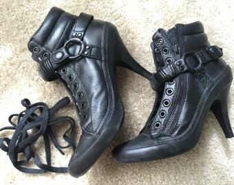Black Sheepskin Prince Ankle Booties