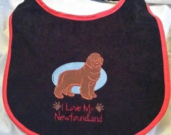 large drool slobber dog bib newfoundland