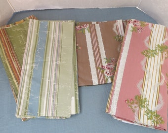 Vintage Fabric - Vintage Fabric Samples, Lee Jofa Fabric Samples, Vintage Fabric, Designer Fabric, Brocade Fabric, Stripe Fabric