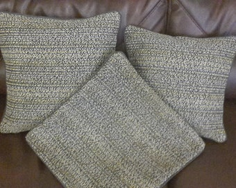 3 x spotted cushion covers