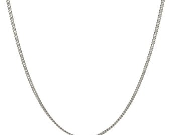 Italian Sterling Silver 2mm Curb Chain Necklace